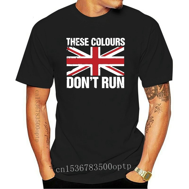 New 2021 Hot sale Free shipping These Colours Don't Runs, Mens T Shirt, Casual Patriotic Great Britain