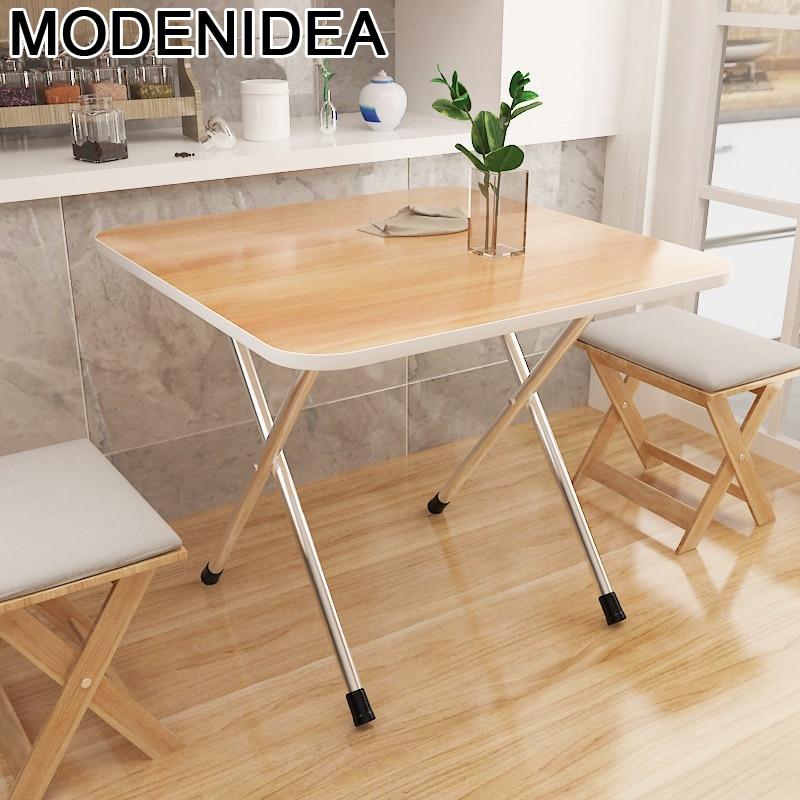 Mesa Plegable De Oro para Comedor al aire libre, mueble De cocina Plegable, Mesa De cena
