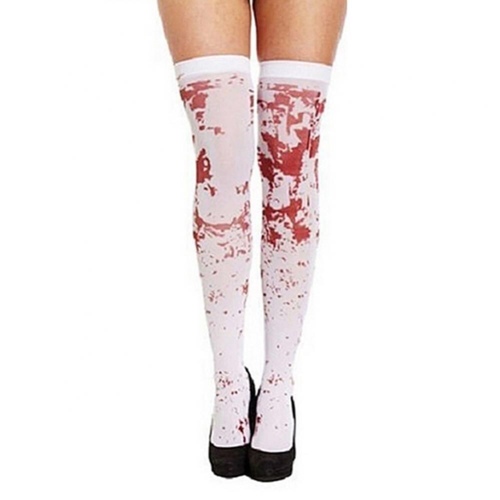 Женские носки выше колена, кровавые носки, окрашенные кровью, костюм для Хэллоуина