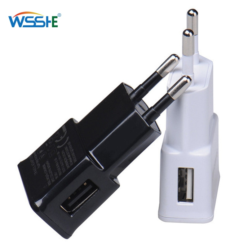 Wall USB Charger 1 USB EU plug For Samsung iphone Mobile phone charging Power Adapter Micro Charger