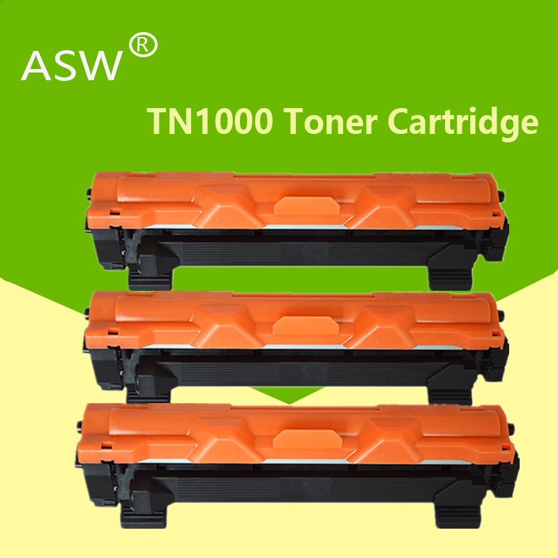 ASW 3 قطعة TN1000 خرطوشة الحبر متوافقة لأخيه TN1030 TN1050 TN1060 TN1070 TN1075 HL-1110 1210 MFC-1810 DCP-1510 1610W