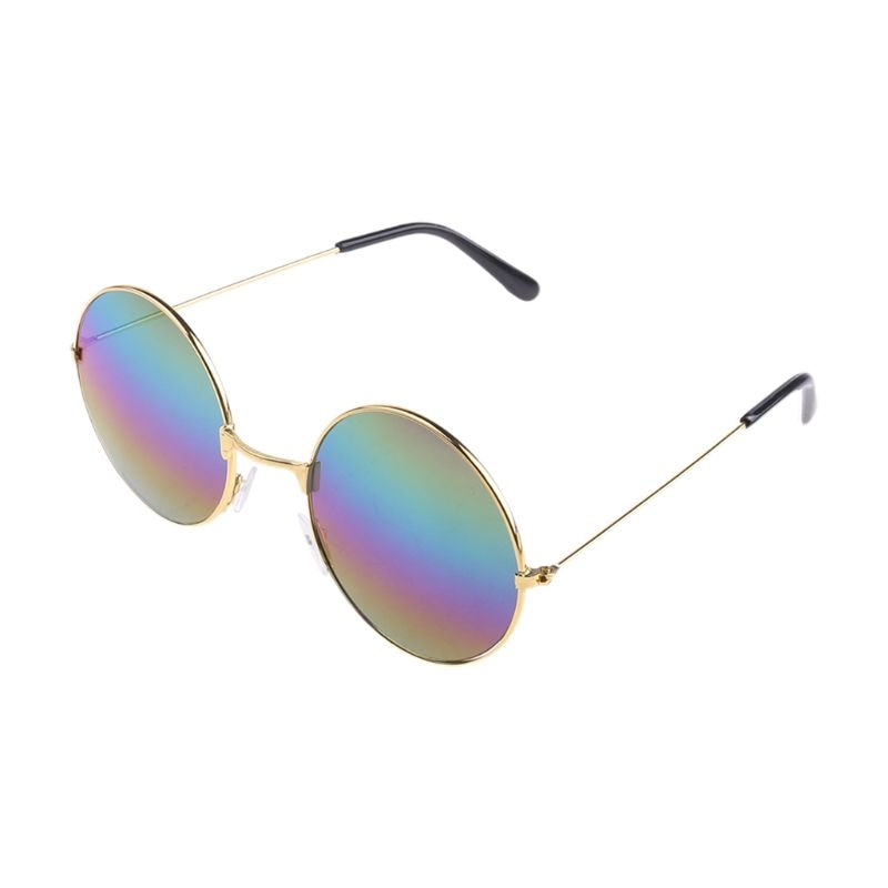 Y166 винтажные Круглые Солнцезащитные очки новые модные конфетные винтажные круглые зеркальные солнцезащитные очки UV 400
