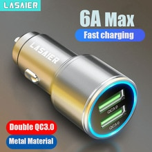 Lasaier Quick Charge 3.0 36W QC Car Charger for Samsung S10 9 Fast Car Charging for Xiaomi iPhone QC