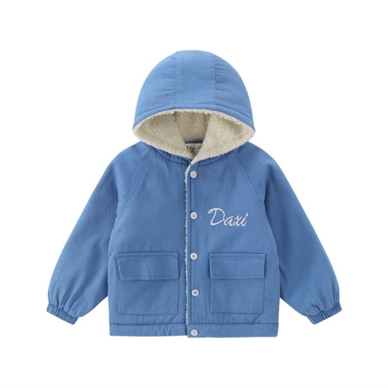 Childrenswear boys' autumn and winter clothes padded jacket children's winter style with Fleece quilted cotton cloth western enlarge