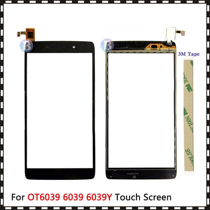 "De reemplazo 4,7 ""para Alcatel One Touch Idol 3 OT6039 6039 6039Y Digitalizador de pantalla táctil Sensor exterior Panel de lente de vidrio"
