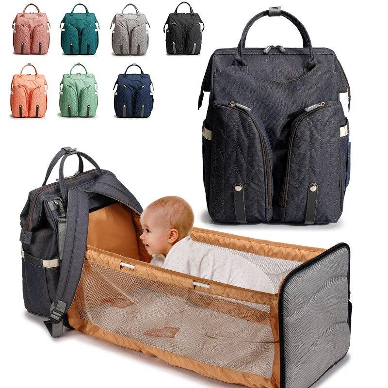 Модная сумка для мам новая простая однотонная ткань Оксфорд многофункциональная складная сумка для мам товары для беременных и малышей