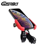 3 0a usb quick charge motorcycle phone holder for harley bmw handlebar stand mount aluminum alloy motorbike phone holder stand