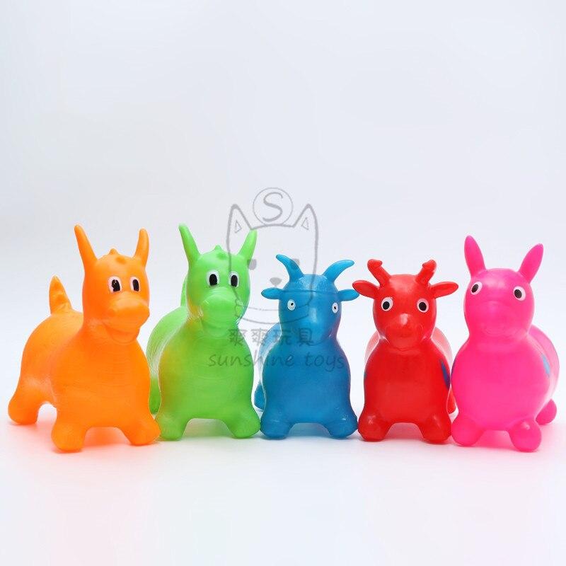 32cm crianças esportes jogos passeio em brinquedos animais dos desenhos animados do bebê inflável jumping horse bouncy brinquedos para crianças