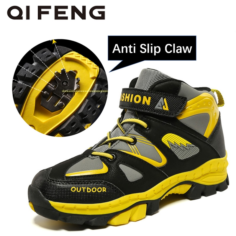 Детские ботинки для активного отдыха, спортивные походные ботинки для подростков, альпинизма, треккинга, зимние ботинки для мальчиков, клас...