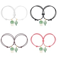 best friend 2 piece set bracelet plant fairy ball potted pendant alloy fashion men and women valentines day jewelry gift hot