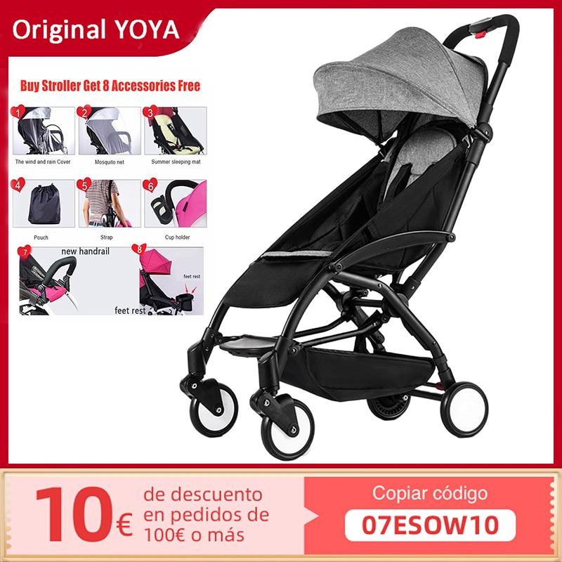 الأصلي Yoya عربة أطفال خفيفة الوزن المحمولة للطي عربة للسفر فقط 5.8 كجم مناسبة لعربة الأطفال 0 ~ 36 شهر