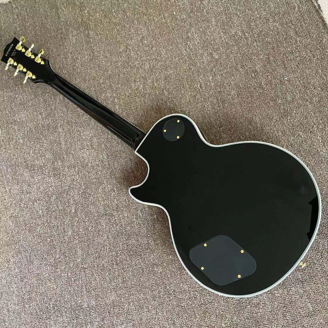 Custom Electric Guitar.Black color mahogany body gitaar.high quality pickups.handmade 6 stings guitarra.rosewood fingerboard. enlarge