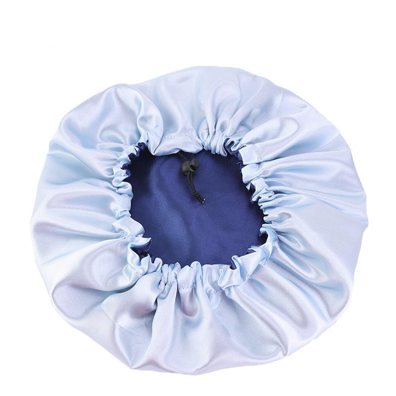 Muslim Women Night Sleep Cap Satin Elastic Bonnet Hat For Hair Care Head Cover Adjust Hair Loss Hat