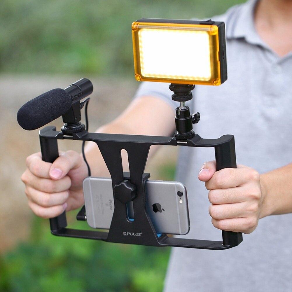 puluz-photo-studio-accessories-handheld-filmmaking-vlogging-rig96led-camera-lighttripod-headmicrophone