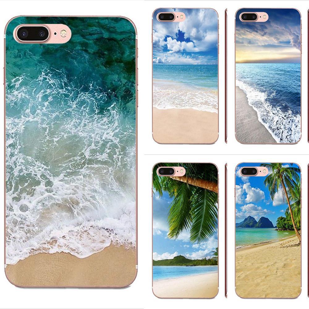 Clear Sea Sky Sandy Beach Soft Pattern For Apple iPhone 11 Pro X XS Max XR 4 4S 5 5C 5S SE SE2 6 6S 7 8 Plus