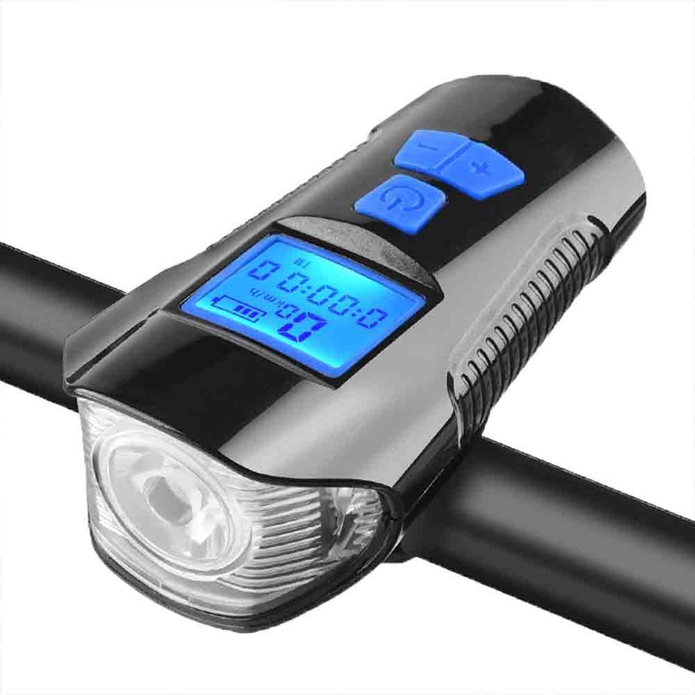Bicicleta lâmpada de carregamento usb led forte luz ao ar livre à prova dwaterproof água mountain bike faróis eletrônico sino brilho lanterna led