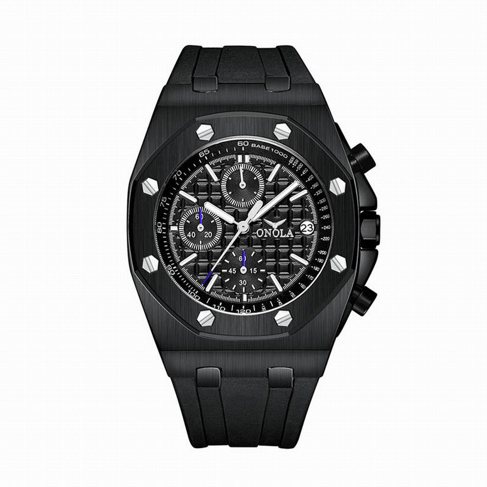 Men's Watches Top Brand Luxury Cool Fashion Quartz Watch Men Steel Metal Wrist Watches Multifunction Chronograph