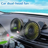 usb car fan universal adjustable angle dual head fan low noise car auto cooler air fan car dashboard cooling air usb high airfl