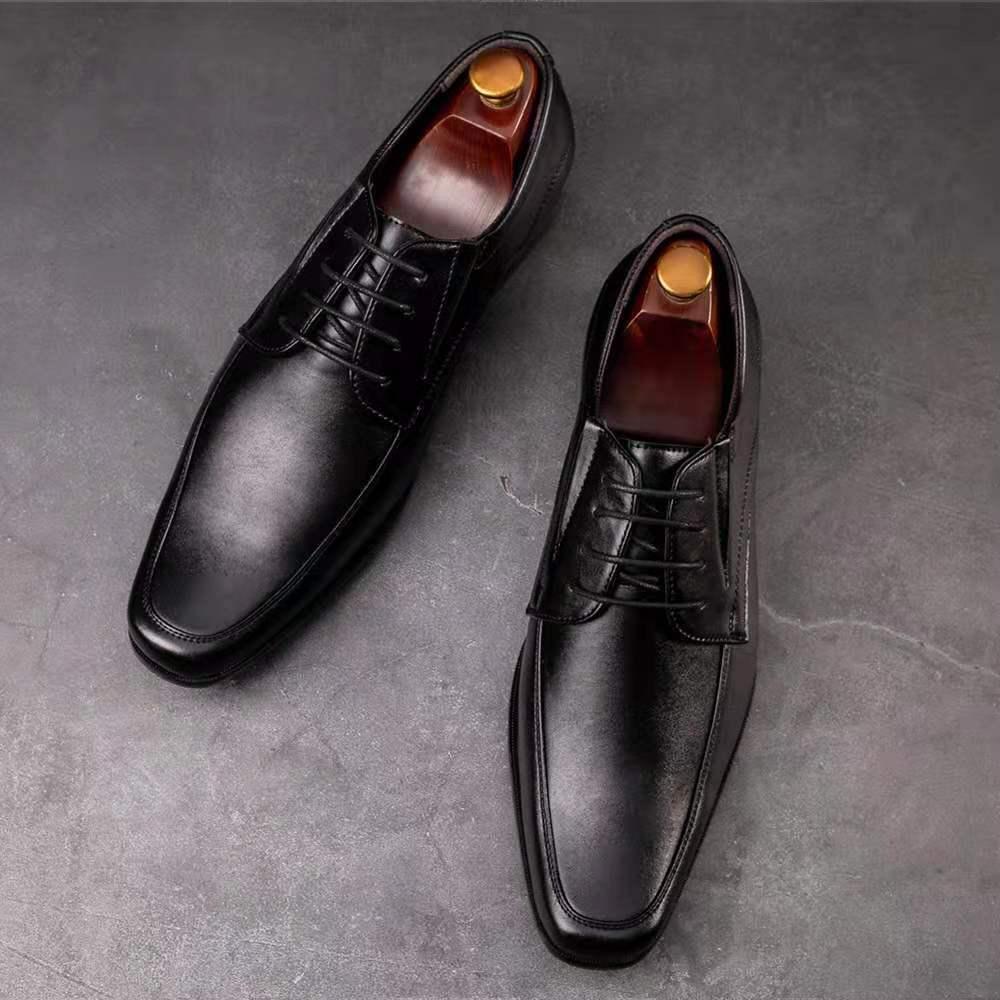Мужская кожаная обувь, Новинка весна-осень 2021, деловая британская официальная одежда, повседневная дышащая мужская обувь для свадебных вст...