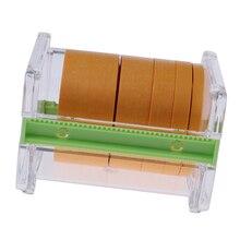 Caixa de armazenamento de fita de papel de mascaramento com 5 rolos modelo pintura spray escudo fitas