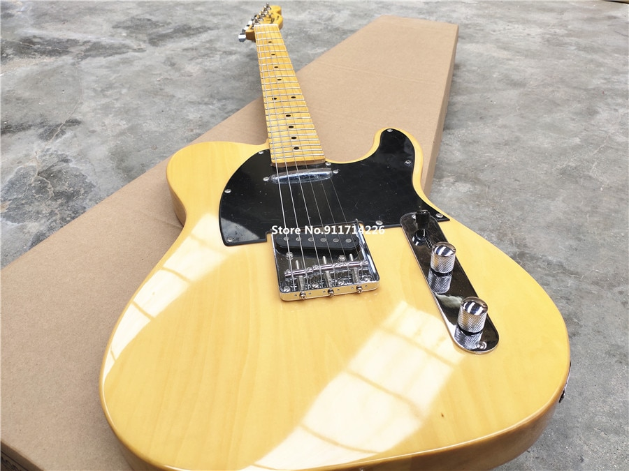 Inheriting the classic light yellow transparent yellow electric guitar can be customized free shipping enlarge