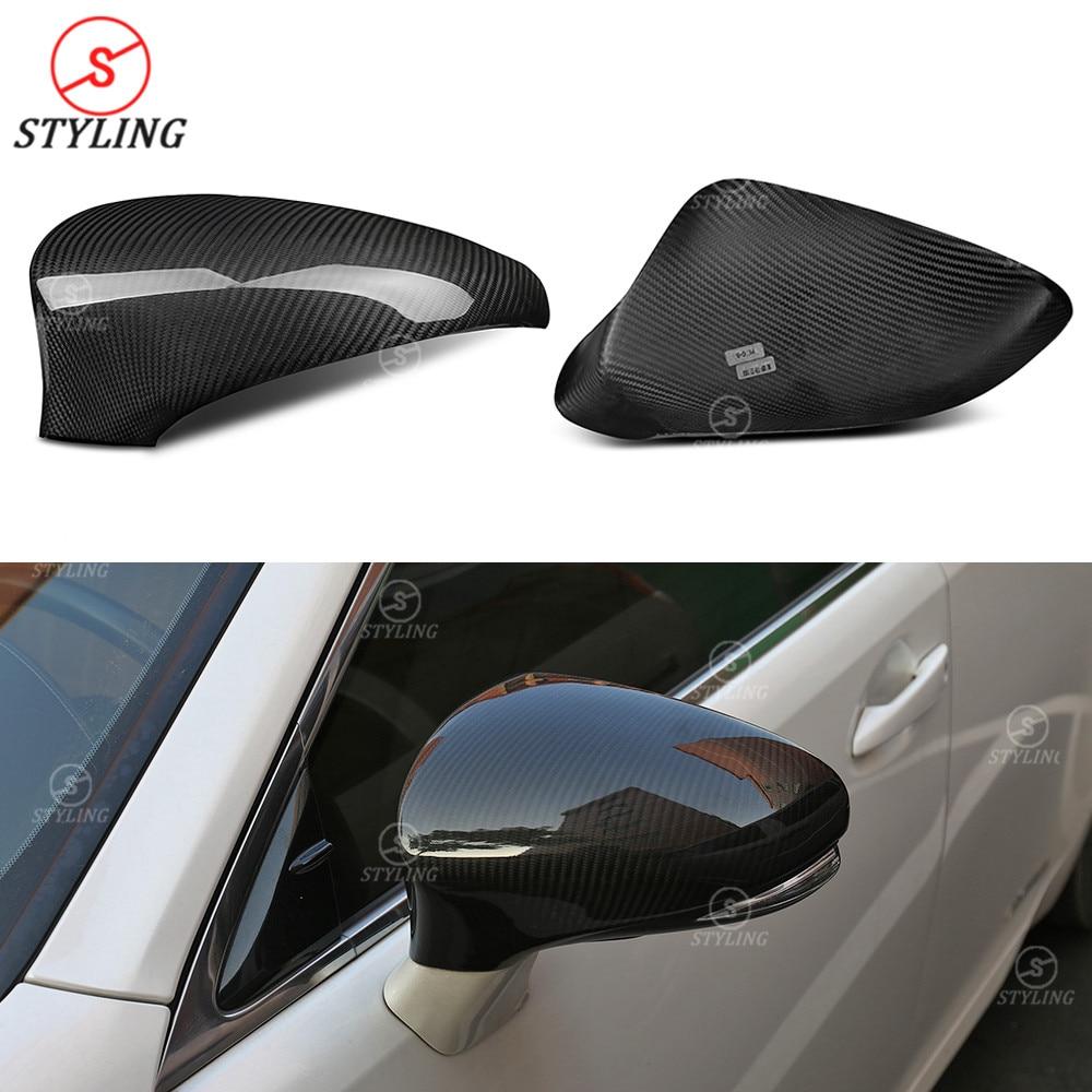 RCF CT боковое зеркало крышка LHD для Lexus GS IS ES RC LS сухое углеродное волокно боковое зеркало крышки 2011 2012 2013 2014 2015 2016