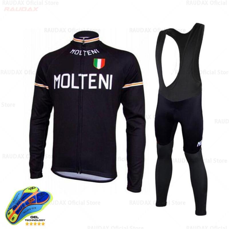 Conjunto de ropa de Ciclismo MOLTENI para Hombre, Maillot de manga larga,...