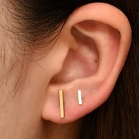 simple sweet gold color stud earrings for women 2021