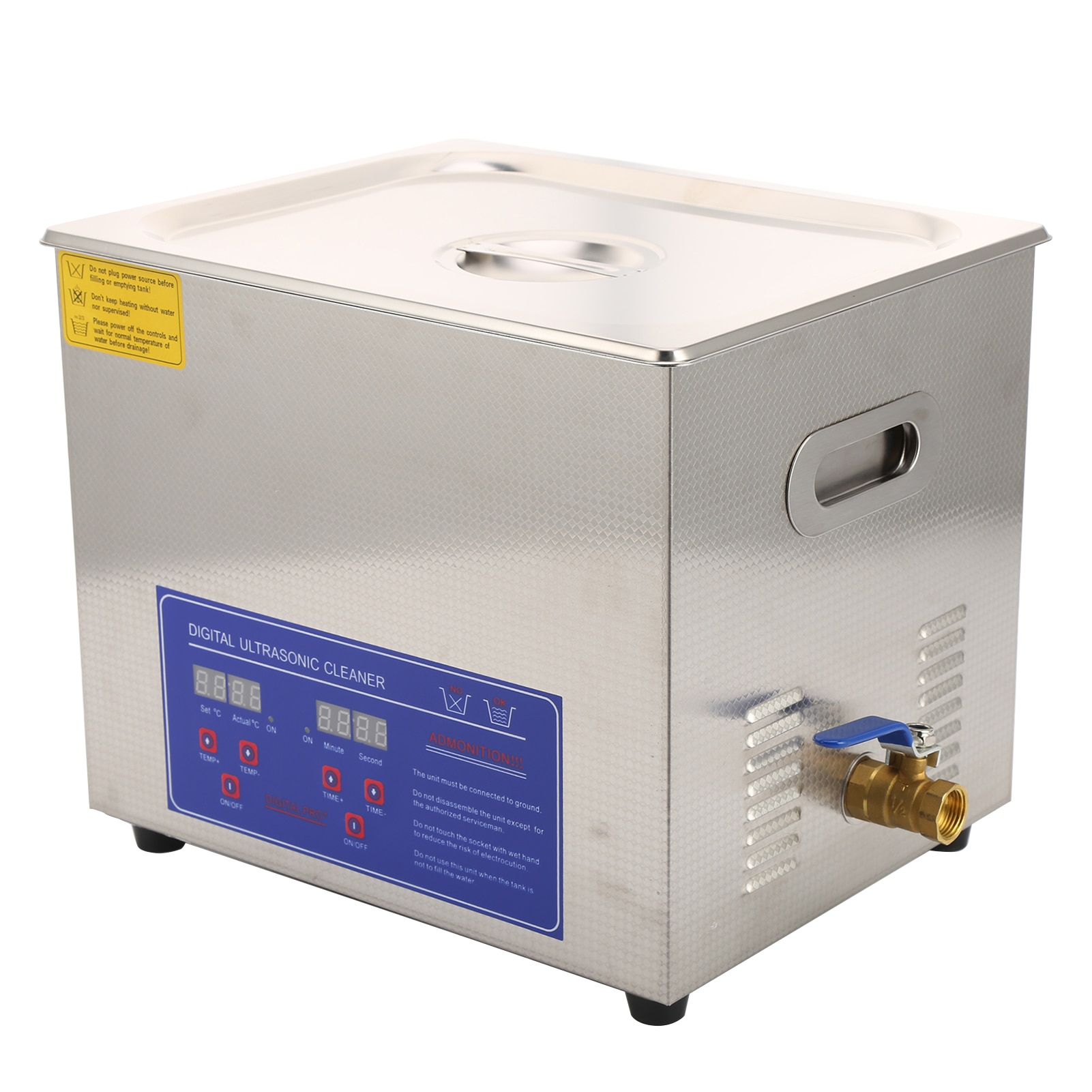 Digital LCD Cleaning Equipment 10 Liters Ultrasonic Cleaner Bath Tank With 10L Cleaning Basket
