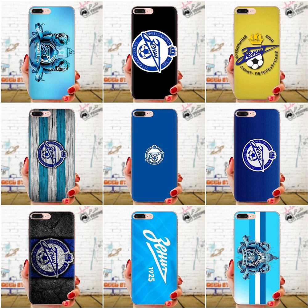 TPU Fashion Cell Case Zenit Football Club Logo For Xiaomi CC9 CC9E Mi 3 4 4i 5 5S 6 6X 8 9 SE Play Plus Pro Lite A1 Mix 2 Note 3