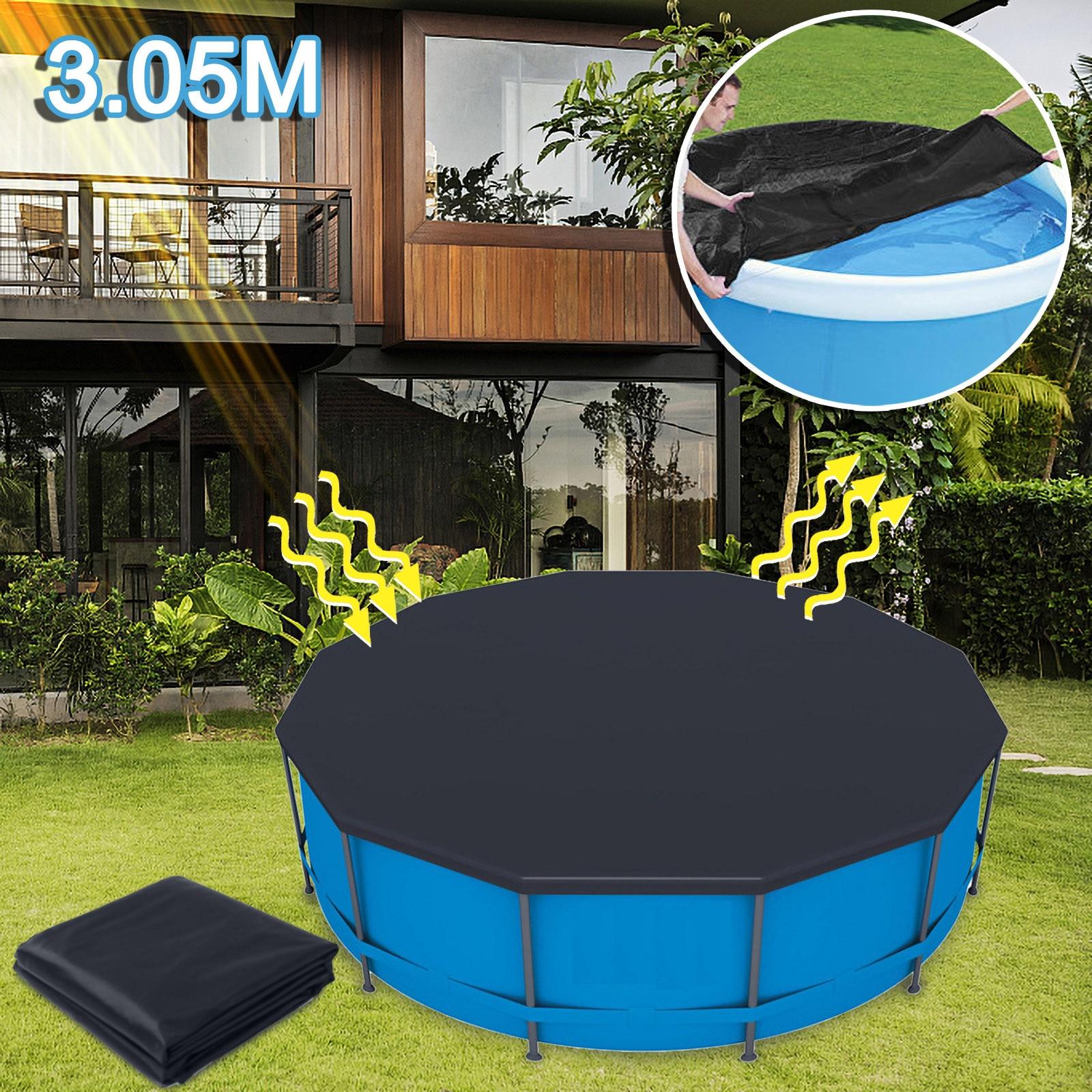 بركة اكسسوارات 3.05 متر غطاء حمام سباحة مستديرة غطاء حوض السباحة غطاء حمام سباحة حديقة في الهواء الطلق اللعب الأسرة Bache psquine بركة Zwembad اكسسوارات