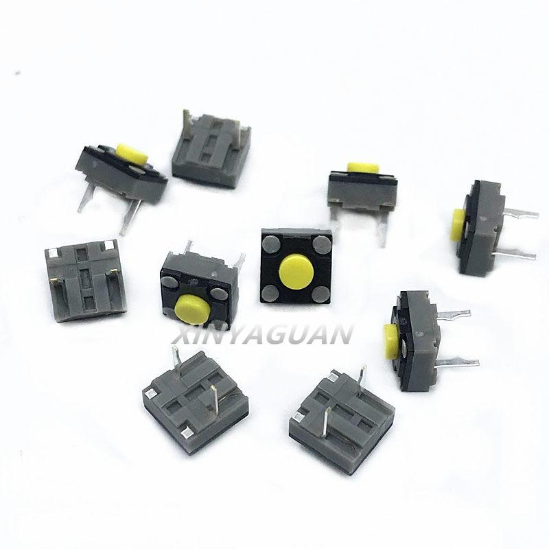 10-100 шт. Kailh 6*6*4,3 мм квадратный бесшумный переключатель беспроводная мышь микропереключатель тактовый переключатель кнопка мыши