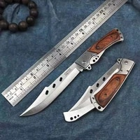 very sturdy military stainless steel u s a pocket folding blade knife self defense outdoor hunting survival camp fishing knives