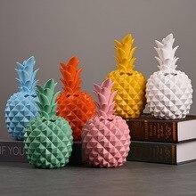 Multi-fonction réservoir de stockage ananas tirelire Simulation créative résine dessin animé décor à la maison artisanat Fruits Sculpture chambre