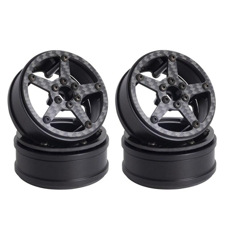 4 قطعة ألياف الكربون 2.2 بوصة Beadlock محور عجلات ريم ل 1/10 RC الزاحف سيارة محوري SCX10 ريث RR10 Traxxas TRX4