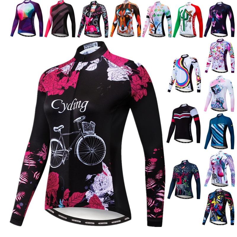 Weimostar-Maillot de Ciclismo para mujer, ropa de bicicleta de manga larga, ropa...