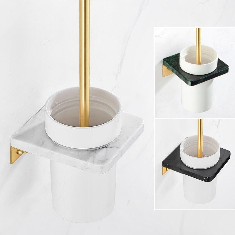 ضوء الفاخرة الرخام حامل فرشاة المرحاض الأسود غسل المرحاض فرشاة الحمام مقبض طويل تنظيف فرشاة الرخام المرحاض فرشاة قاعدة