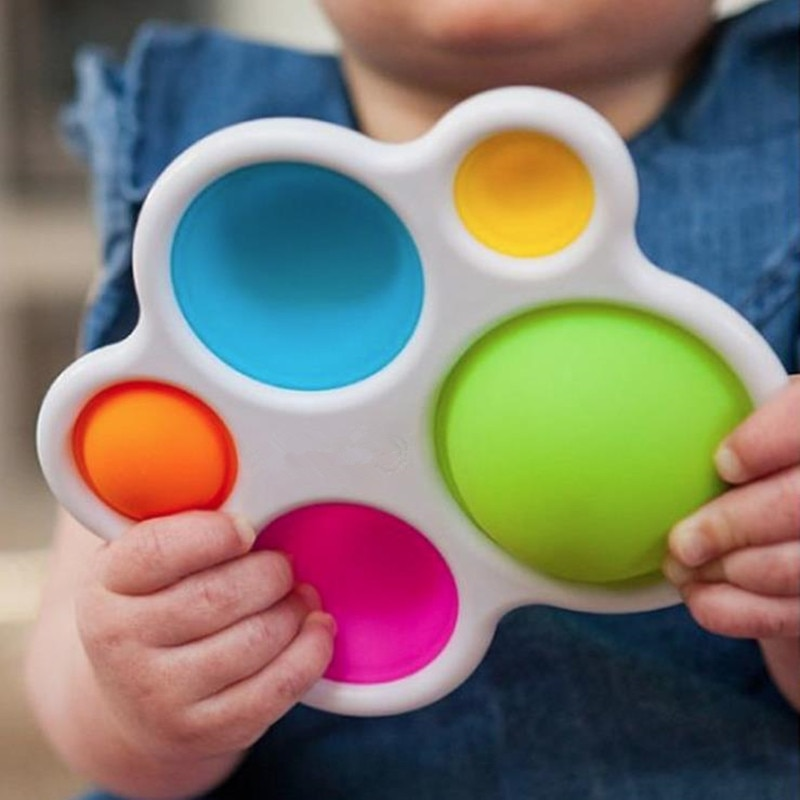 Baby Toys Montessori Exercise Board Rattle Puzzle Toy Colorful Kids Fidget Toys Intelligence Development Early Education Toy