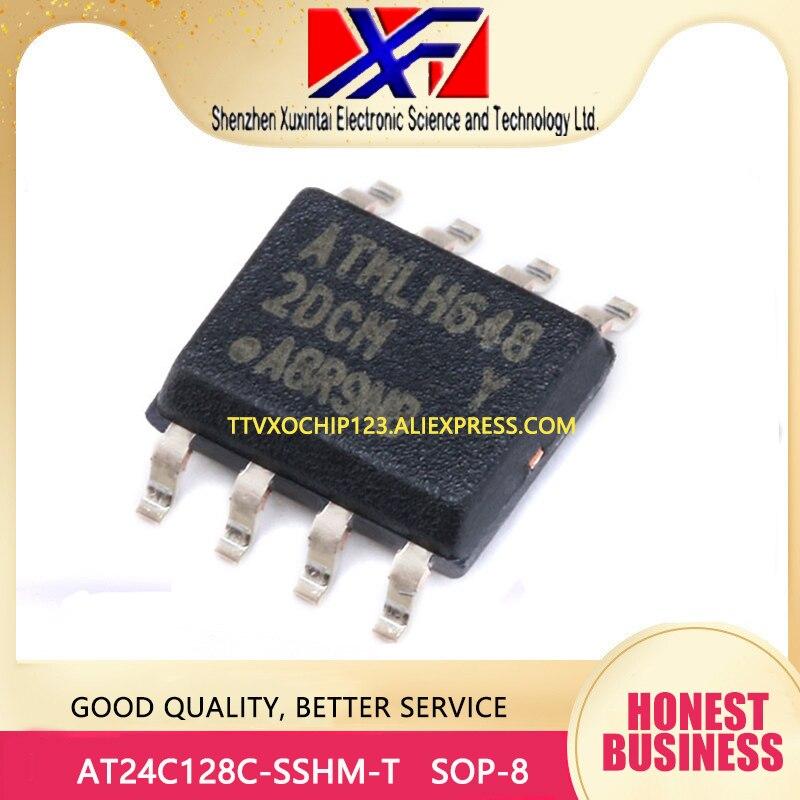 20 unids/lote AT24C128C-SSHM-T AT24C128C IC EEPROM 128K I2C 1MHZ SOP-8