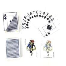 1 ensemble/lots Poker cartes à jouer en plastique haut de gamme Texas Holdem Baccarat glaçage étanche grand nombre 63*88mm jeux de société