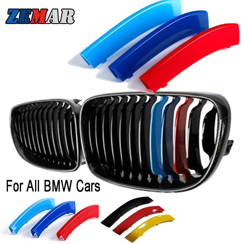 Cubierta para tiras de rejilla delantera de BMW, decoración estética de colores,...