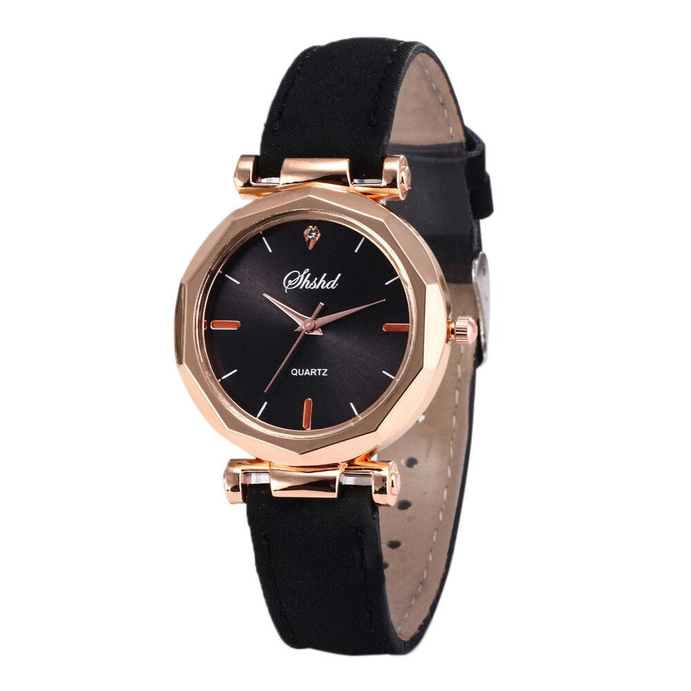 Fashion Watch For Girls Women Leather Casual Watches Luxury Analog Quartz Crystal Wristwatch Free Sh
