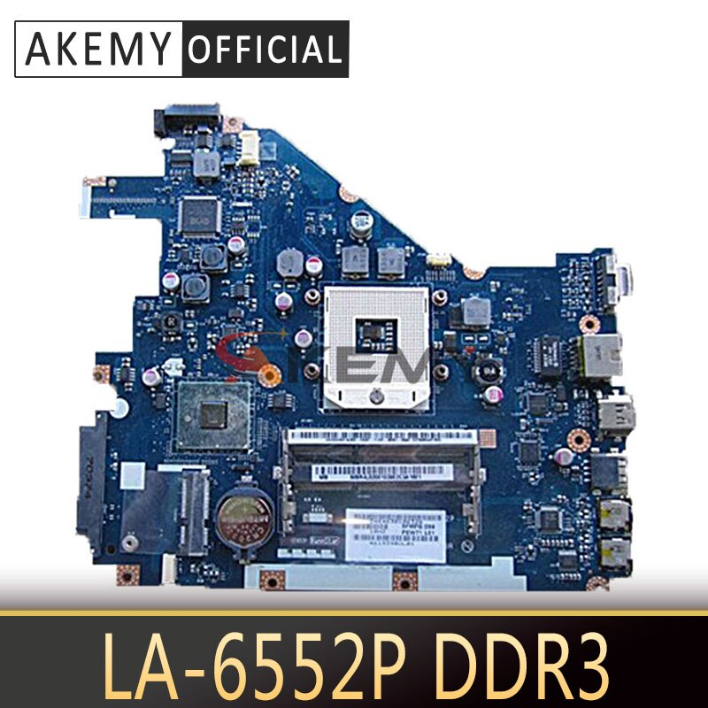 Placa base para portátil Acer aspire 5552, 5552G, LA-6552P, MBR4602001, MB.R4602.001, DDR3,...