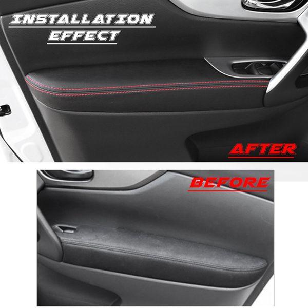 Дверь подлокотник защитная крышка поверхность боковой подлокотник панель Крышка для Nissan Qashqai J11 2016 2017 2018