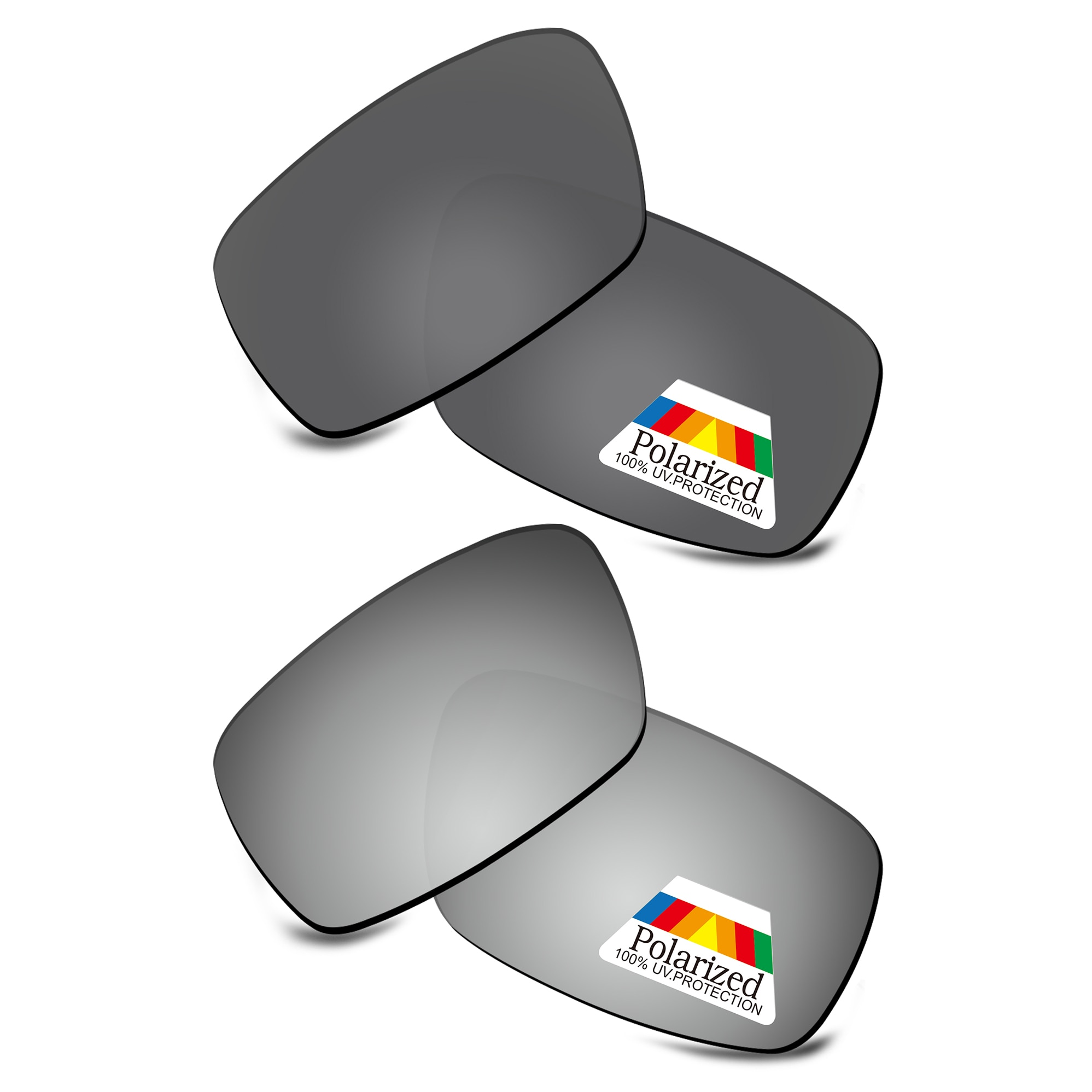 Фото - Bwake 2 Pairs Black & Silver Polarized Replacement Lenses for-Oakley Crankshaft OO9239 Sunglasses Frame очки oakley oakley c 3 crankshaft черный onesize