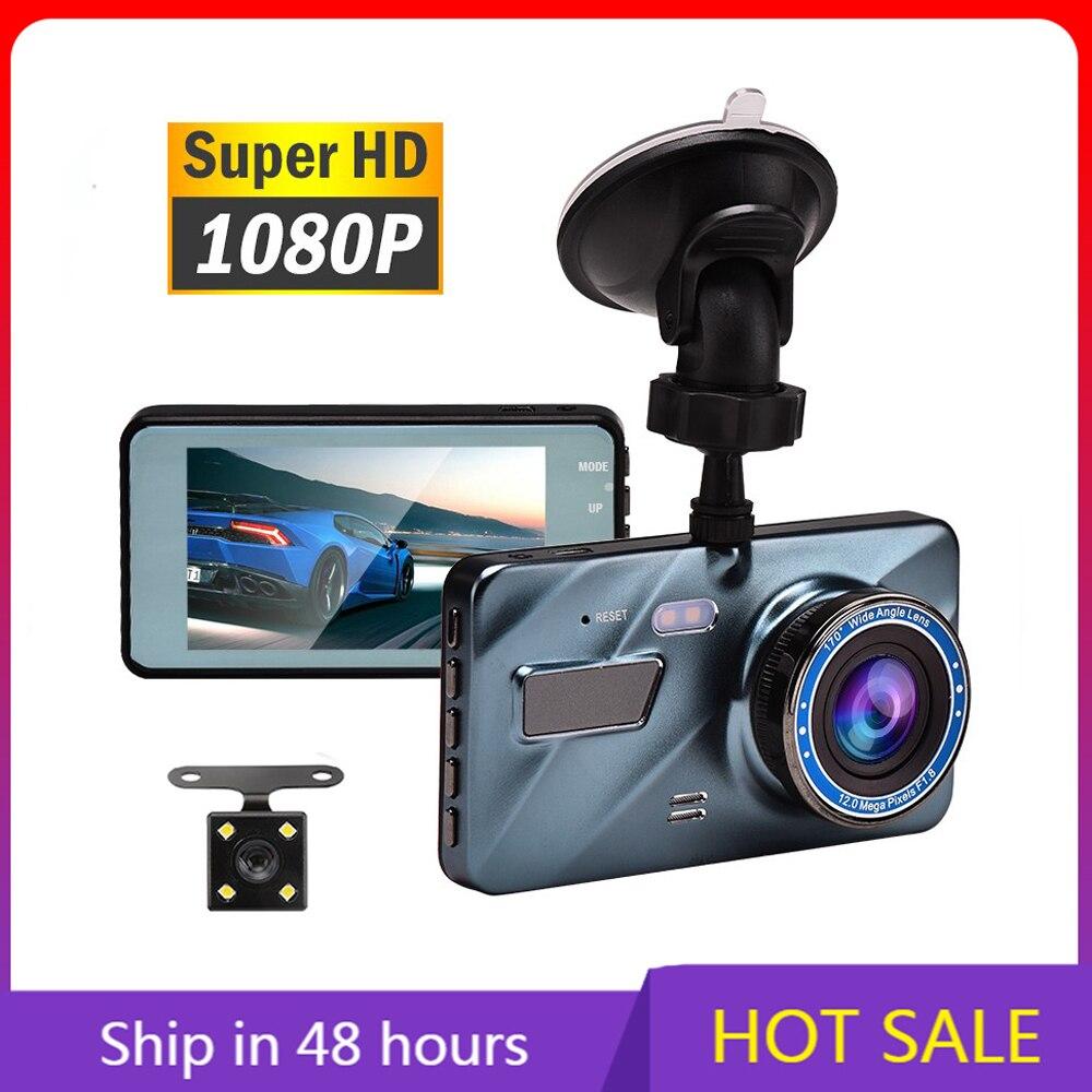 Автомобильный видеорегистратор J16, видеорегистратор заднего вида с двумя объективами 1080P 3,6 дюйма Full HD, циклическая запись, акселерометр, ви...
