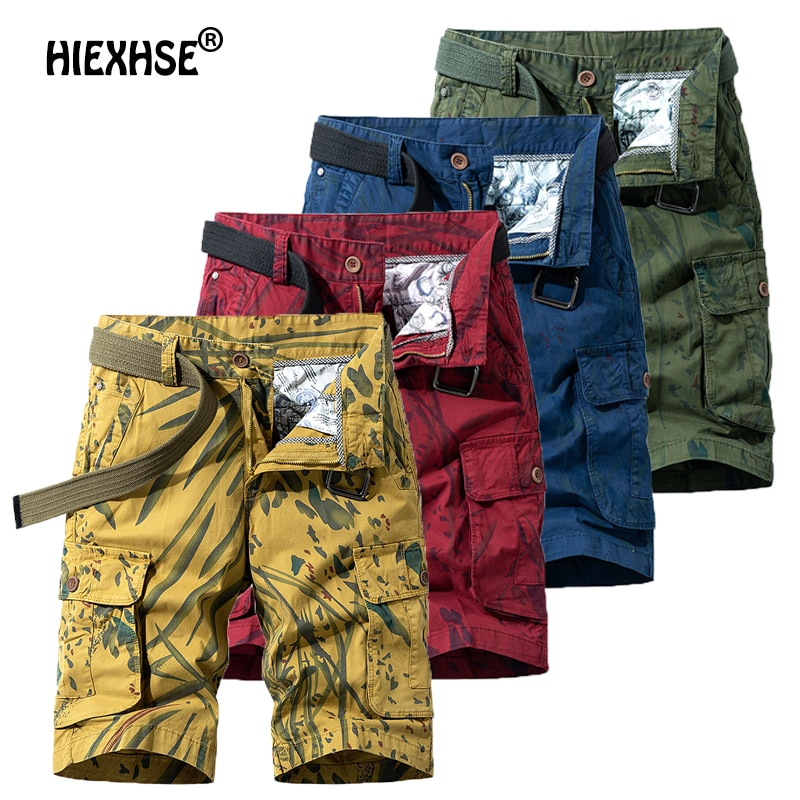 Summer Outdoor Men's Military Uniform Camouflage Shorts Multi-Pocket Decoration Casual Sports Shorts Bermuda Men Cargo Shorts