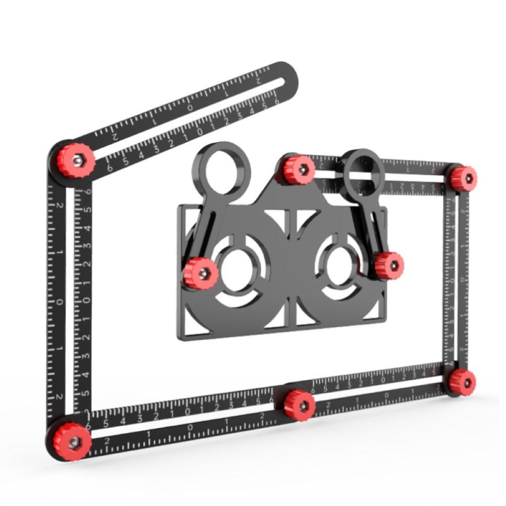 Строительные инструменты, многоугловая измерительная линейка, ручной резак для плитки, дырокол, измерительный инструмент, «сделай сам», ин...