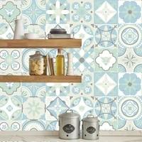 Autocollants muraux style marocain  arabe  carreaux verts  cuisine  salle de bains  decor de maison  Art Mural  Surface brillante  impermeable  affiche murale personnalisee