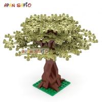 DIY строительные блоки садовые растения дерево 7 видов цветов развивающие творческие фигурки кирпичи Размер совместим с брендами игрушки дл...
